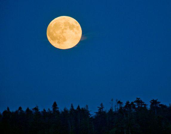 Full Moon over British Columbia