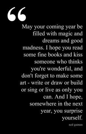 May Your Coming Year...