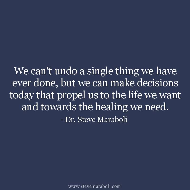 We Can't Undo...