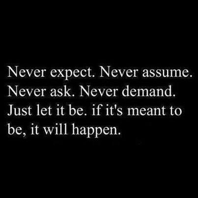 Never, Never, Never...