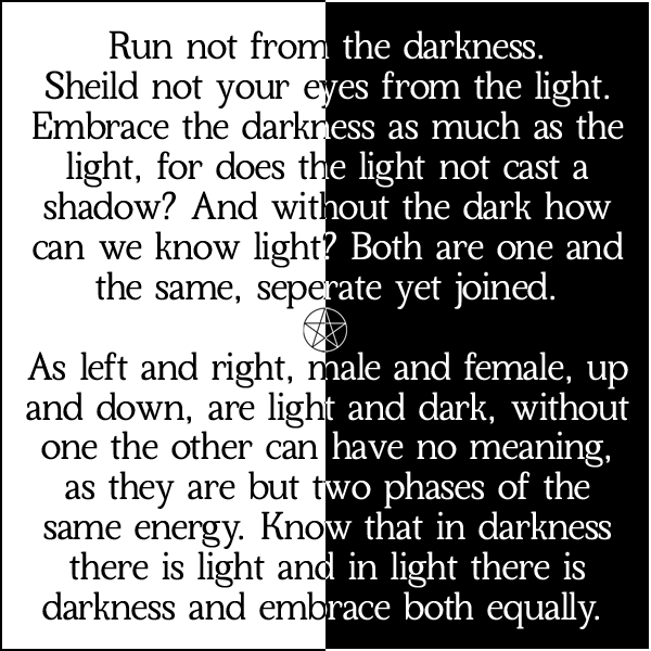 Run Not From The Darkness